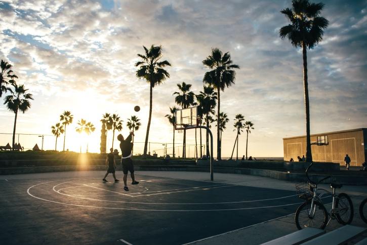 košarka, plaža, bicikala, zabava, tropska, odmor