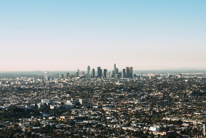 hemel, stedelijk, gebouwen, stad