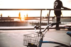 fiets, stad, bestrating, road, zetel