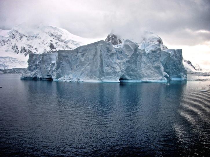 mountain, glacier, cold, ice, iceberg, sea, water