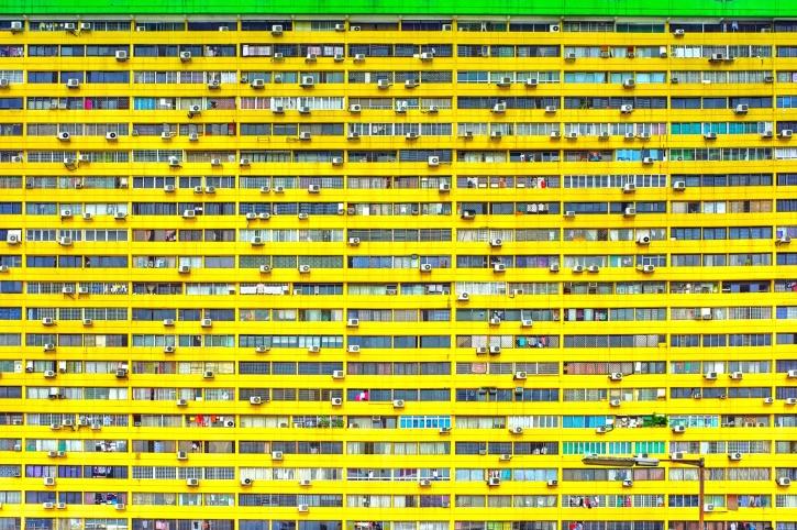 Architektúra, budova, okná, fasáda