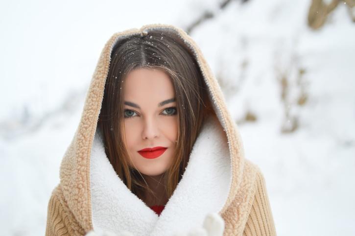 pretty girl, winter, woman, photo model, cold, face, fashion, portrait
