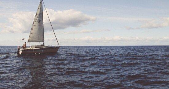 nước, du thuyền, phiêu lưu, bãi biển, thuyền, đám mây, chèo thuyền