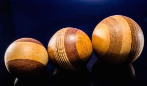drewniane, zabawki, piłki, brązowy