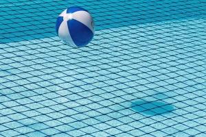 lopta, bazen, voda