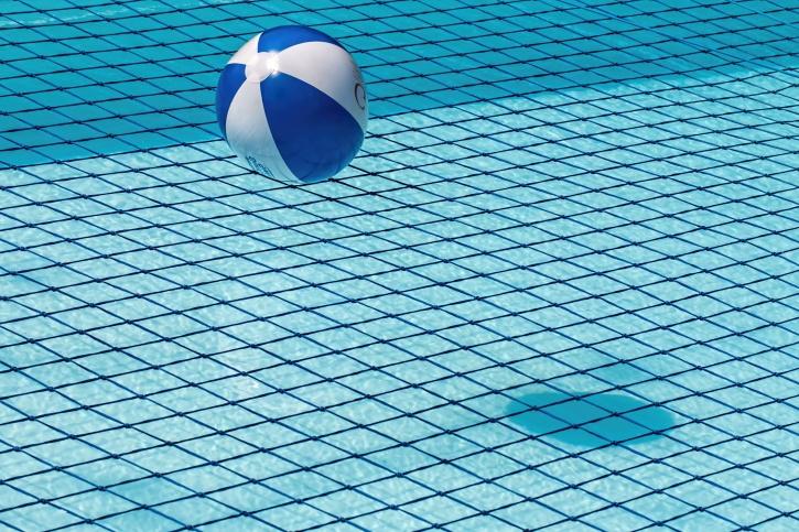 ball, swimming pool, water