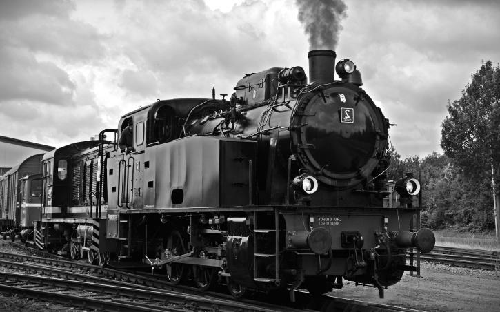 locomotora, carbón, motor de vapor, locomotora, tren, vehículo, plancha de vapor