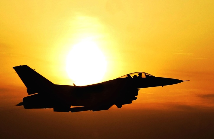 aircraft, aviation, fighter, military, silhouette, sky