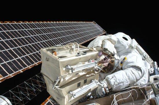Technologie, arbeiten, Astronaut, Forschung, Satellit
