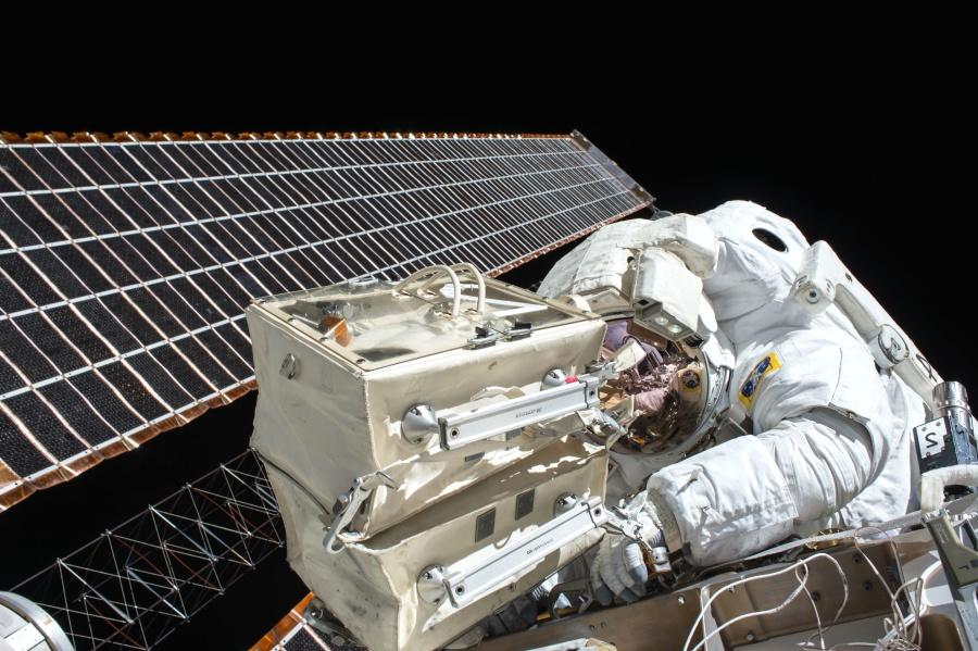 Технология, работая, астронавт, исследований, Спутниковое