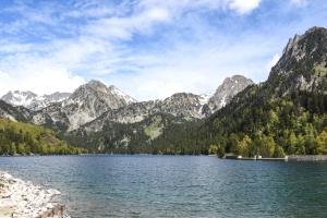 Berg, Natur, Fluss, Himmel, Wolke, Wald, See, Landschaft