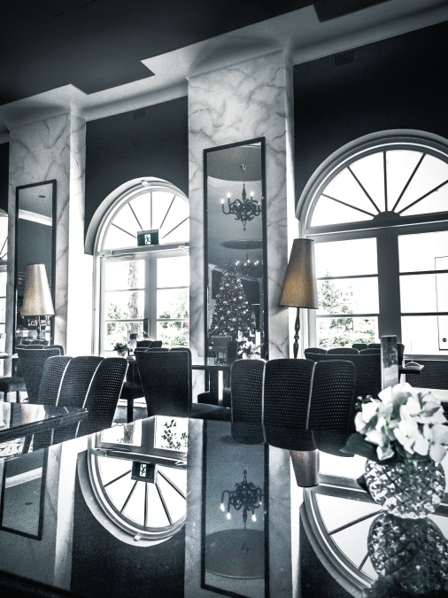 architecture, chairs, lamps, reflection, room, window