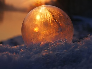 frozen, ice, light, reflection, round, snow