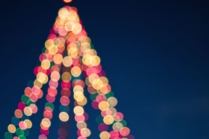 decoration, Christmas, lights, tree, colorful