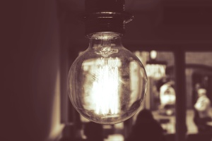 lyspære, rommet, interiør, strøm