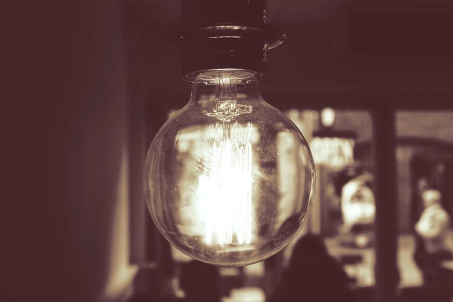 light bulb, room, interior, electricity