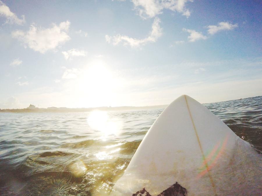 sea, surfboard, surfing, water, sky