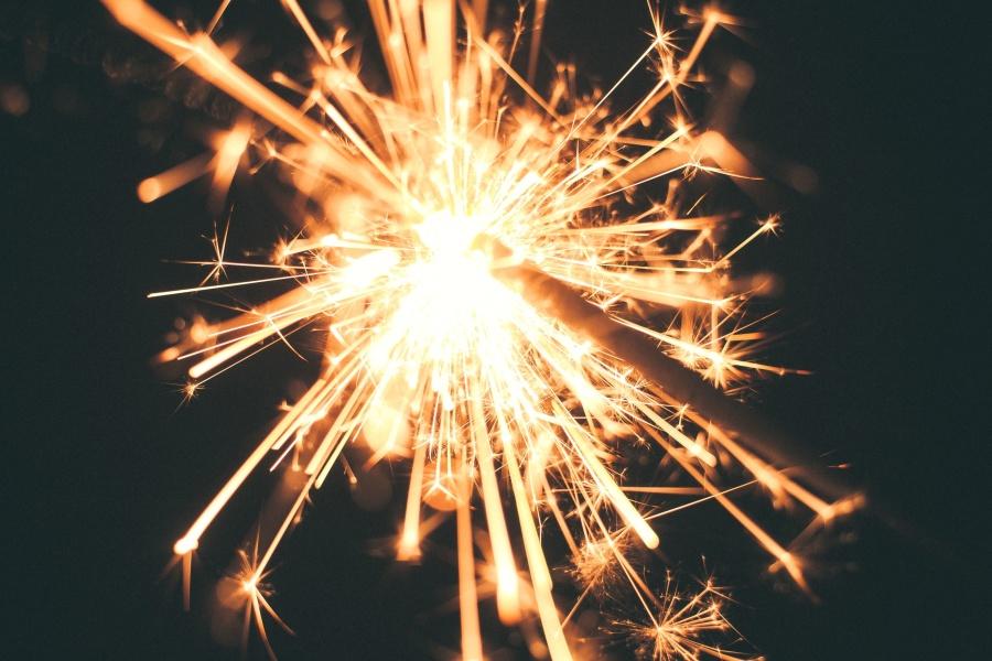 gold, celebration, fireworks, light, sparkler