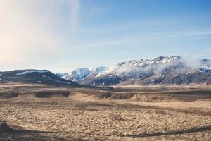 hill, desert, mountains, nature, sky, snow