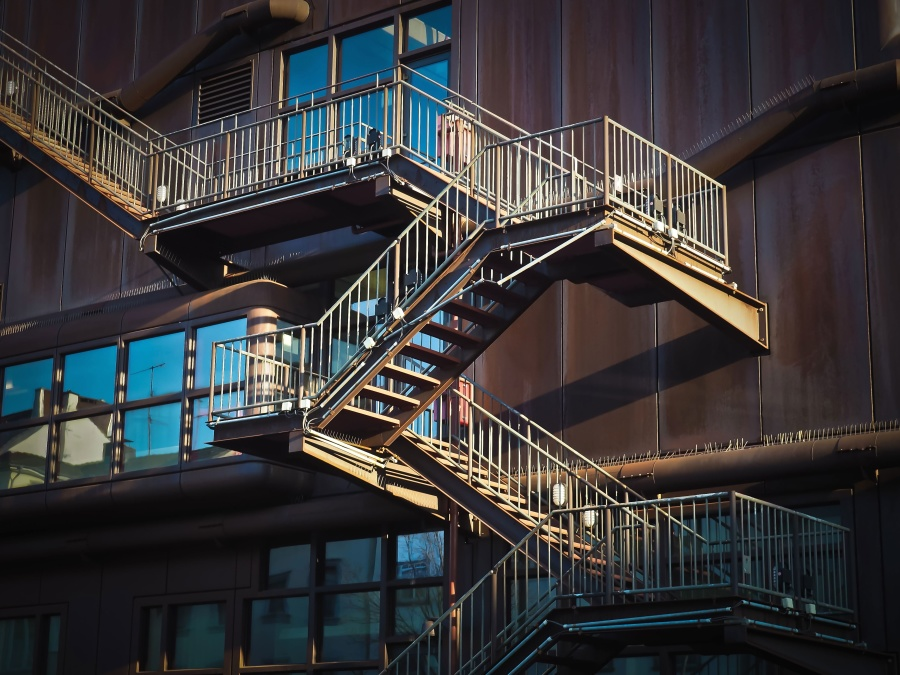 stairs, urban, exterior, architecture, balcony, building