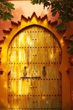 puerta, pared, madera, antigua, antigüedad, arquitectura, arte