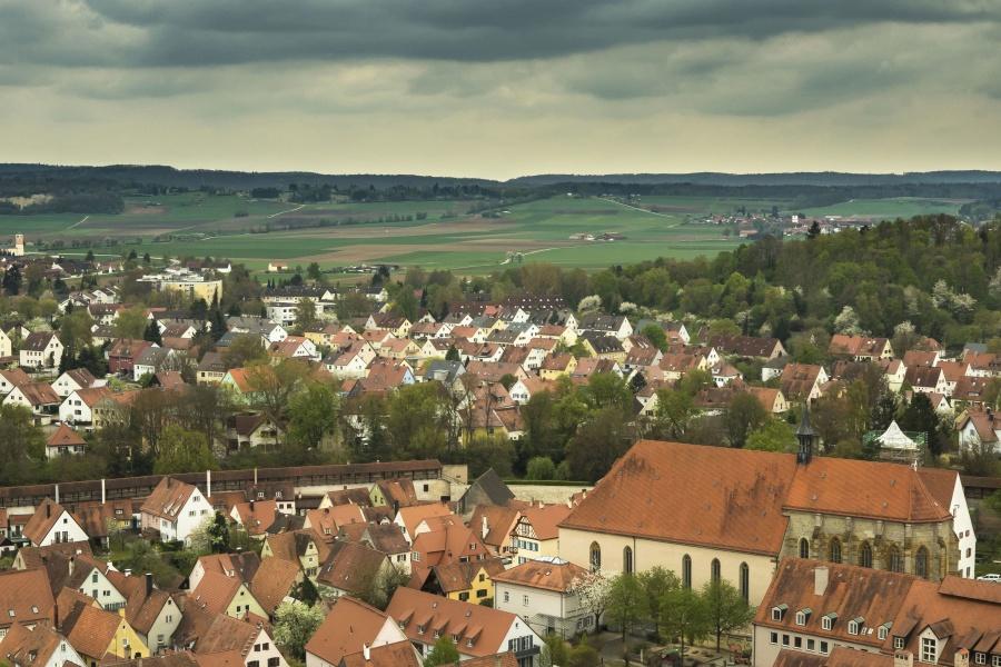 città, viaggio, cielo, nube, tetto, strada, casa, architettura, costruzione