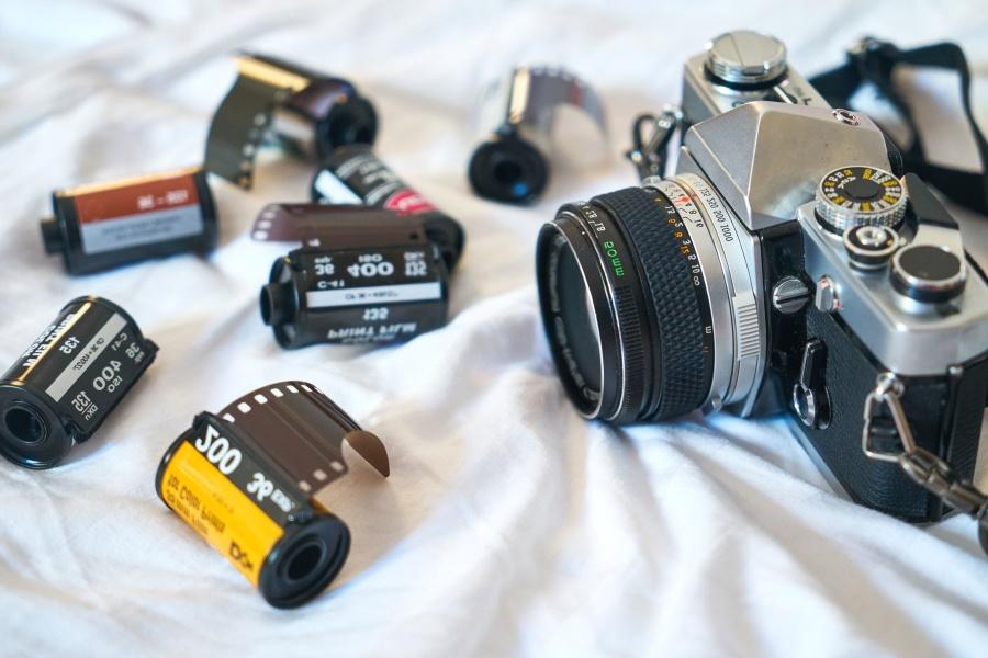 photo camera, photography, lens, camera, equipment, film
