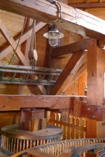 Деревина, лампочки, windmill, інтер'єр