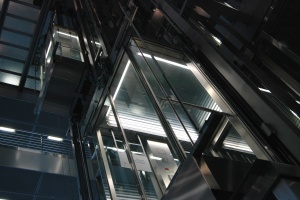 platform, steel, building, elevator, glass