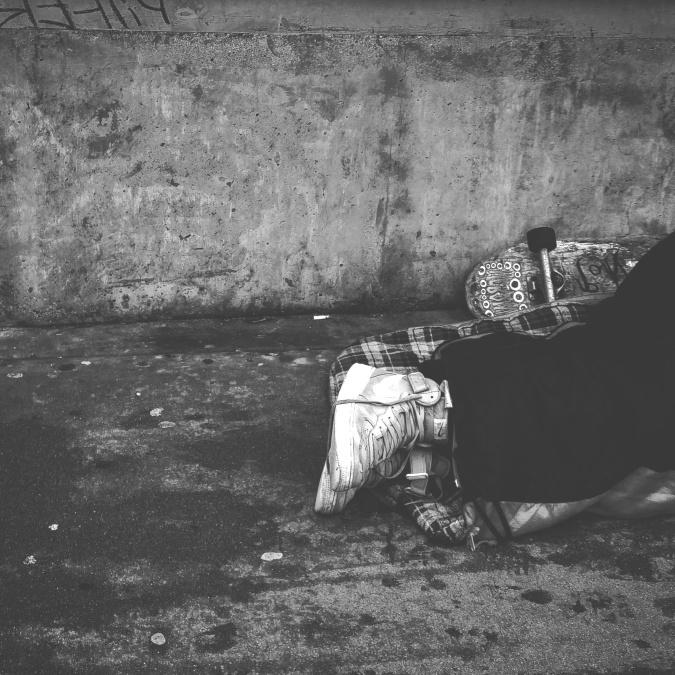 boty, bezdomovce, života, člověka, lidé, osoba, chudé, silniční