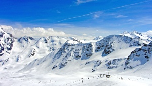 winter, sports, altitude, blue, sky, climb, cloud, frozen, glacier