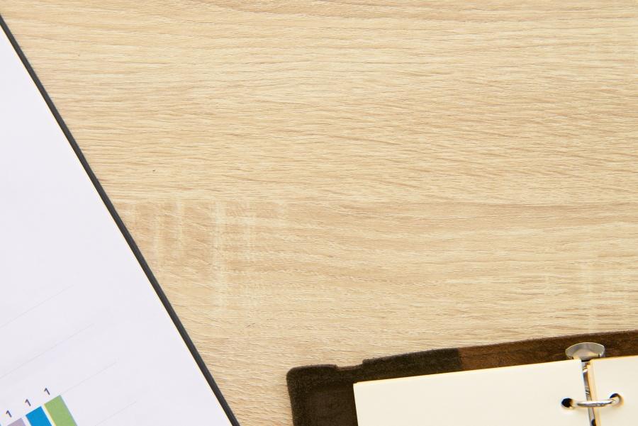 Notebook, tabel, hout, board, grafiek