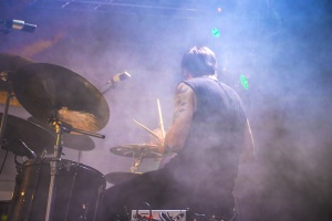 man, smoke, concert, music, drum, sticks, drummer