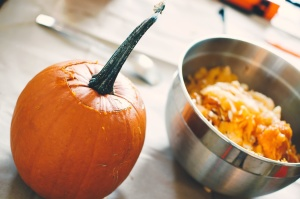pumpkin, delicious, dish, food, kitchen table, steel, bowl