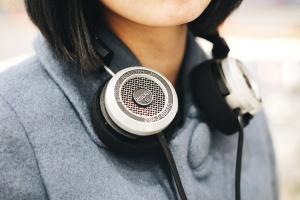 slušalice, glazba, osoba, tehnologija, djevojka