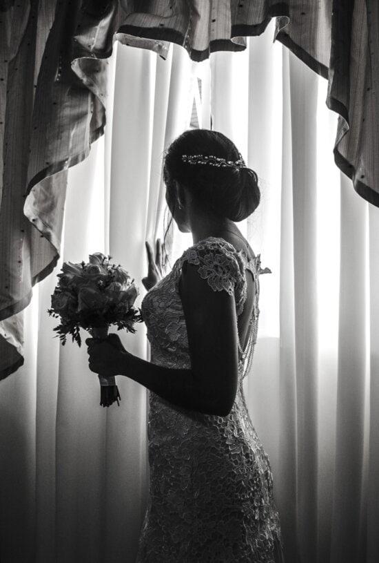 bride, wedding, window, woman, curtain, fashion, girl