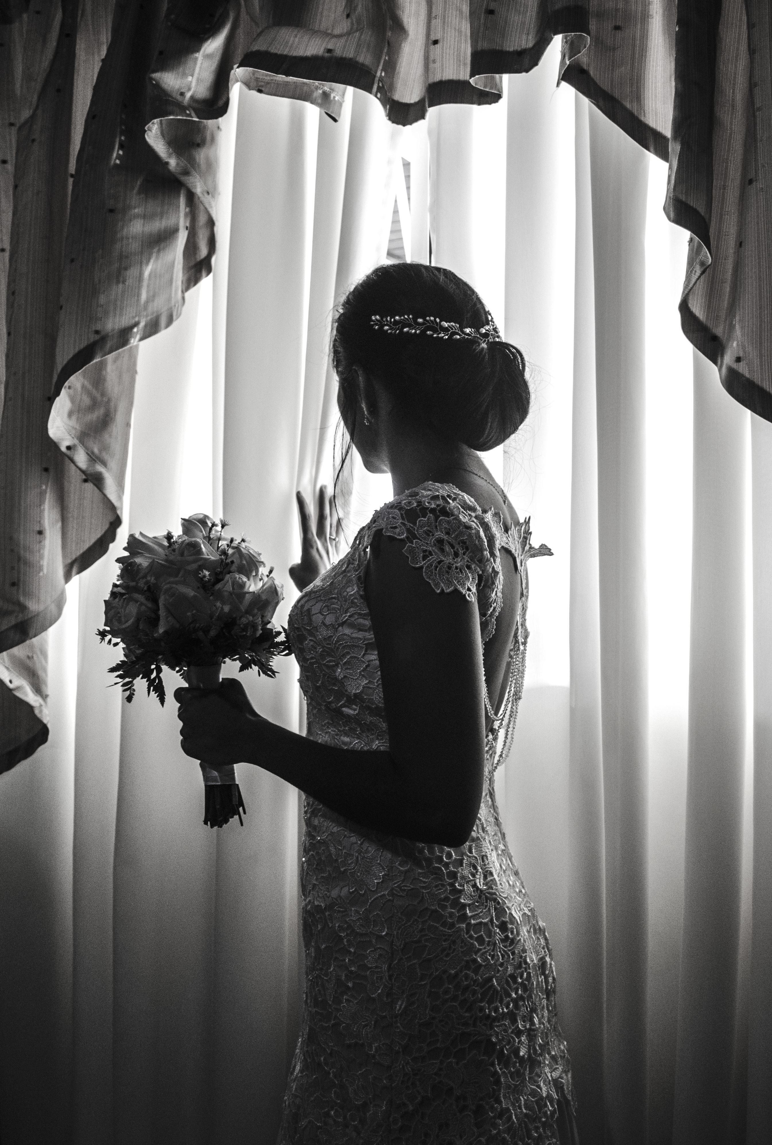 Image libre: mariée, mariée, fenêtre, Rideau, fashion, femme, fille
