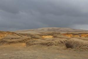 landscape, nature, sky, clouds, hills, land