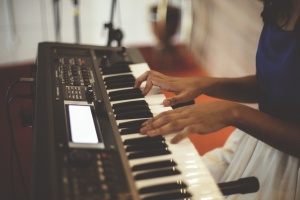 instrument, musician, pianist, piano, playing, practice, technology