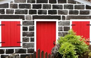 pared, ventana, persianas, ventanas, arquitectura, ladrillo, puerta, fachada, cerca