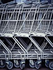 aluminum, shopping cart, steel, grocery cart