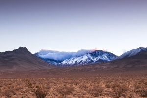 雾, 风景, 山, 天空, 雪, 沙漠