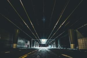 tunel, tmavé, mestský, architektúra, most, budova, mesto