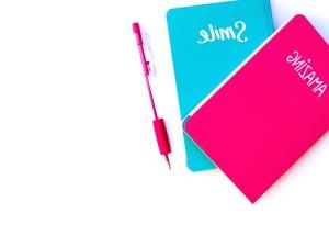 livres, Journal, papier, crayon, journal, notes