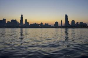 sea, sky, water, buildings, city