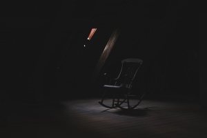 chair, furniture, silhouette, darkness, window, chair, room