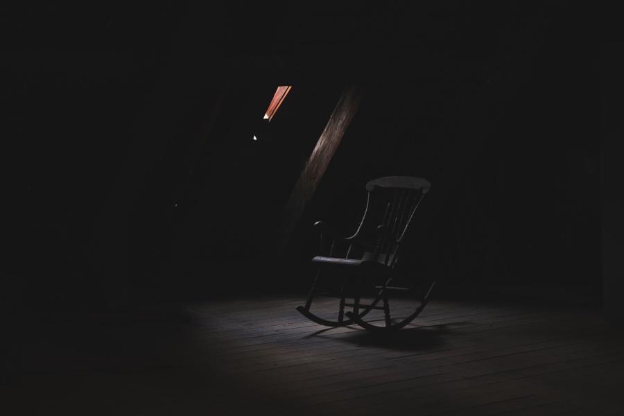stoel, meubilair, silhouet, duisternis, venster, stoel, kamer