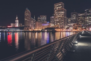 city, water, architecture, bridge, buildings, city, downtown