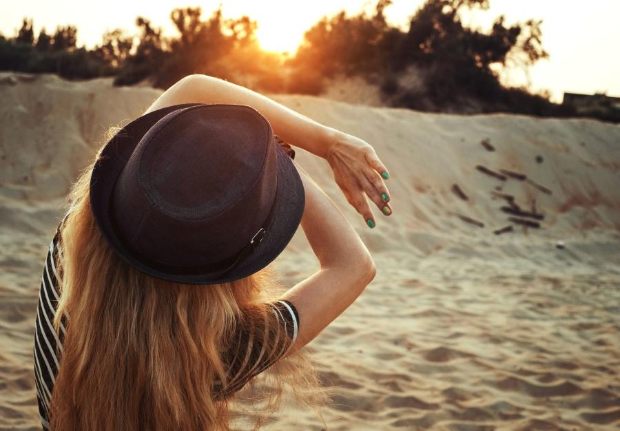 areia, mar, verão, sol, árvore, água, mulher