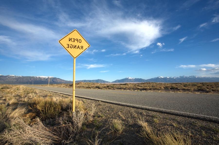 orientation, autoroute, route, signe, désert